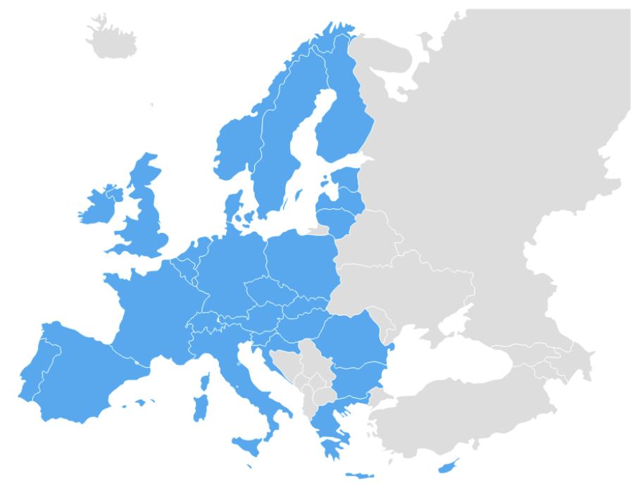 Data simkaart dekkingskaart Europa only